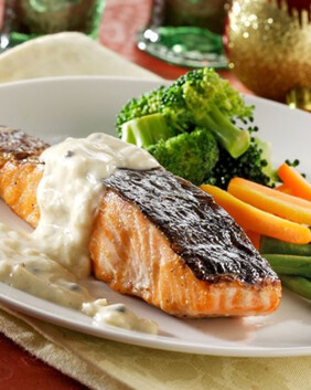 Salmon & Dill with Vegetables