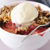 Apple & Rhubarb Crumble