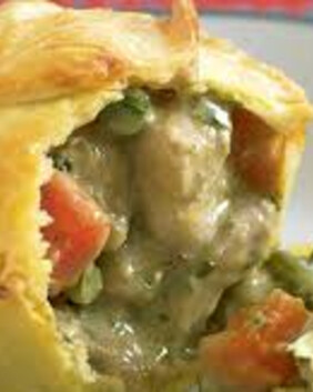 Thai Green Chicken Pie for two