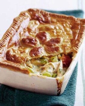 Chicken & Leek Pie for two